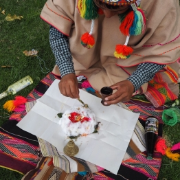 Sacred ceremony for Pachamama