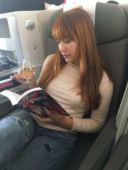 On board Iberia